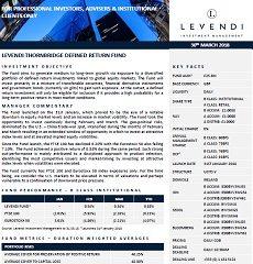 Levendi Thornbridge Fund Factsheet – April 2021